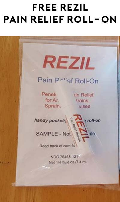 FREE REZIL Relief Roll-On Sample