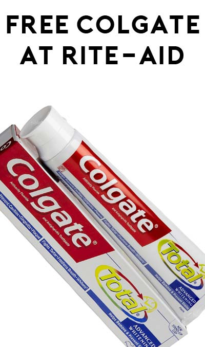 FREE Colgate Toothpaste At Rite-Aid (Coupons Required)