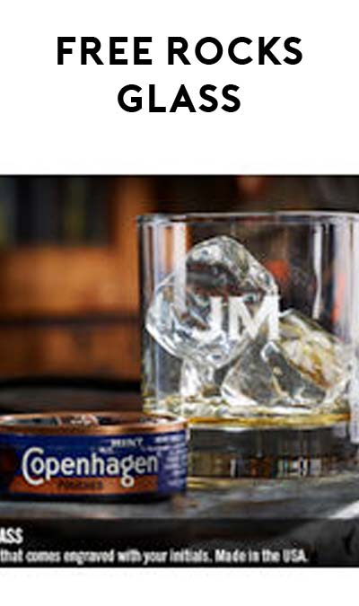 FREE Custom Engraved Rocks Glass From Copenhagen