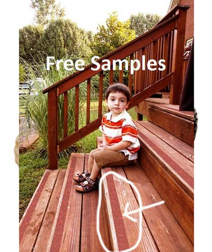 3 FREE No-Slip Tape For Outdoor Stairs Samples