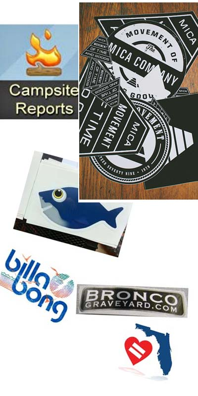 6 FREE Stickers Today: Mica Watches Sticker Pack, Campsite Reports Stickers, Bronco Graveyard Decal, Billabong Stickers, DigitalOcean Stickers & Equality Florida Sticker