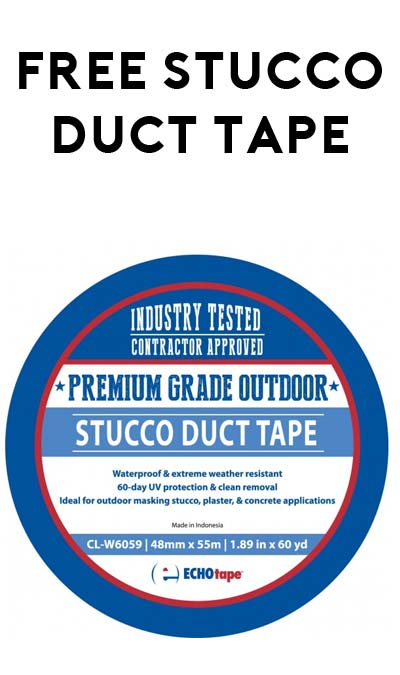 FREE ECHOtape's CL-W6059 Premium Grade Outdoor Stucco Masking Tape For Companies Only