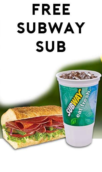FREE 6″ Sub With 30oz Drink Purchase From Subway (Text Required)