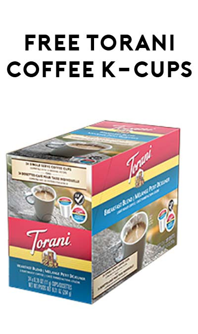 12 FREE Torani Coffee K-Cups Sampler