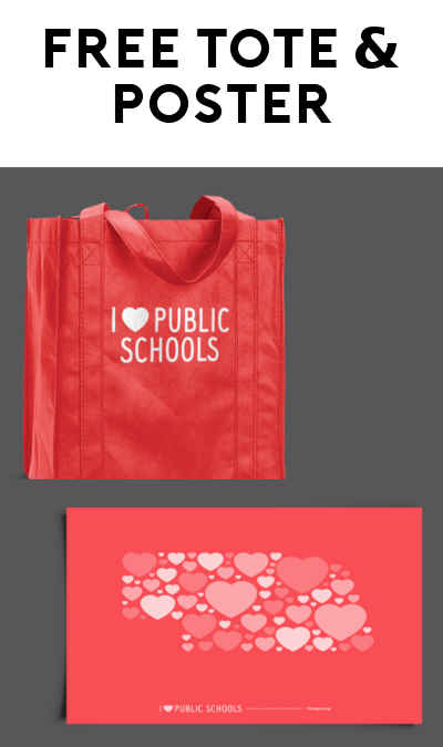 FREE Red Grocery Tote Bag & Poster From I Love Public Schools
