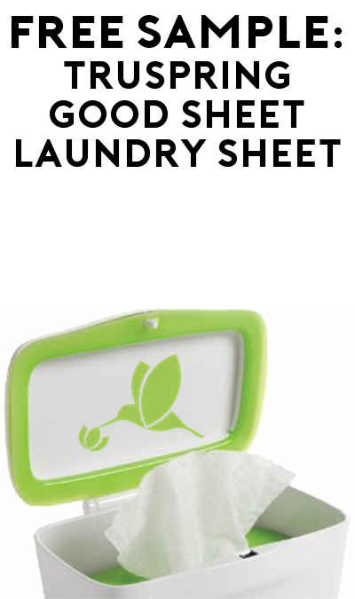 FREE truSpring Good Sheet All-In-One Laundry Sheet Sample