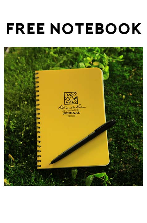 FREE Rite In The Rain Waterproof Notebook Weekly Giveaway