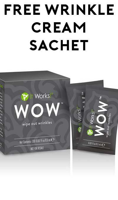 FREE WOW Wrinkle Removal Cream Sample Sachet