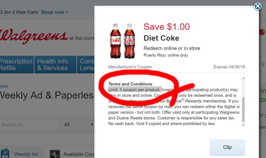 Walgreens does not accept expired coupons. Coupons expire at p.m. on the expiration date at the point of sale, whether in store or online. Walgreens will not accept fraudulent or counterfeit coupons as determined by Walgreens. Unless otherwise specified, all coupons have no cash value. Coupons and their face value cannot be exchanged for cash or gift cards. Competitor's coupons shall not be .