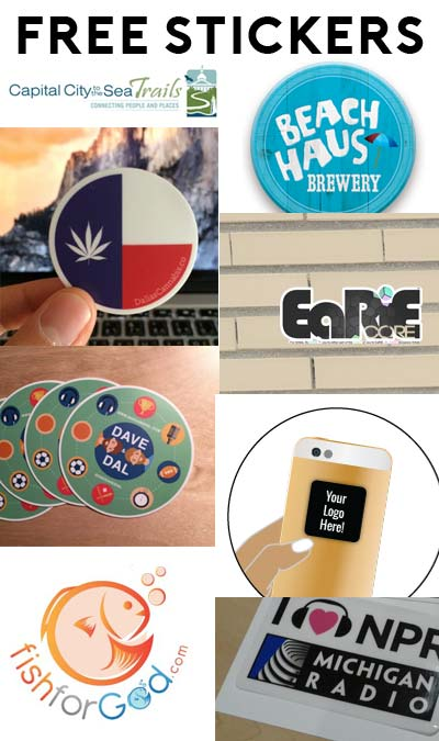 9 FREE Stickers Today: Cell Phone Screen Cleaner Sticker, Michigan Radio Bumper Stickers/Window Clings, EaRiE Core Vinyl Sticker, driveLEAF.com Sticker, Fish For God Window Sticker, Dave and Dal Stickers, Dallas Cannabis Stickers, Beach Haus Beer Stickers & Capital City To The Sea Trails Bumper Sticker