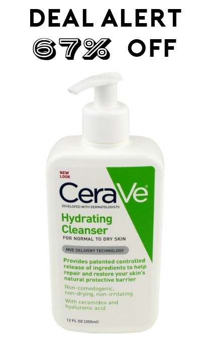 DEAL ALERT: 67% Off CeraVe Hydrating Cleanser 12oz On Amazon