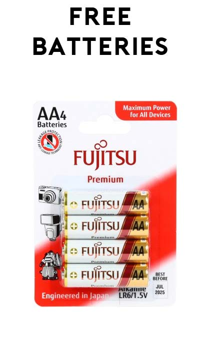 LAST DAY: 3 FREE Fujitsu AA Batteries (4 Pack) From NewEgg After Rebate