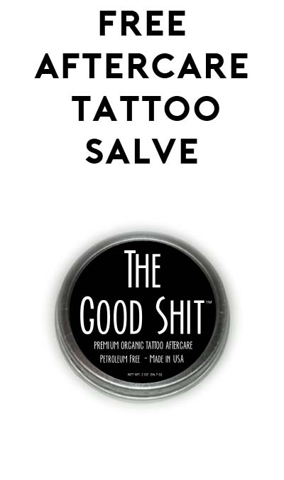 FREE Natural Tattoo Aftercare Salve (Tattoo Businesses Only)