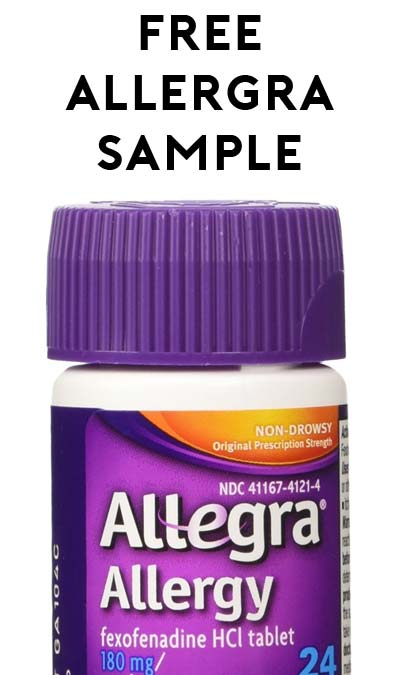 FREE Allegra Allergy 24-Hour Relief Sample From Target