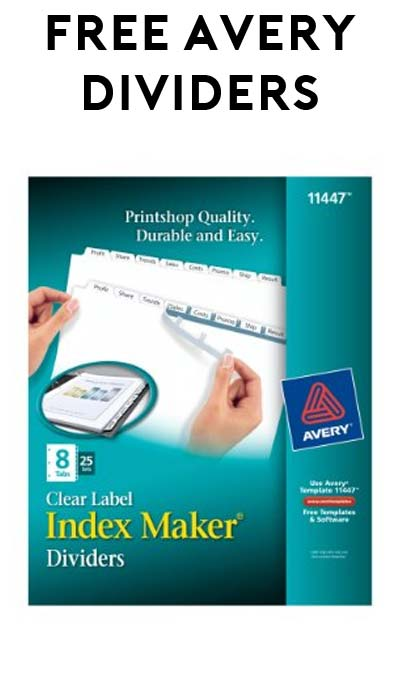 5 FREE Avery Index Maker Dividers