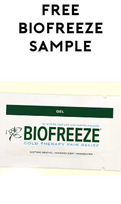 FREE Biofreeze Cold Therapy Relief Sample (Healthcare Professionals Only) [Verified Received By Mail]