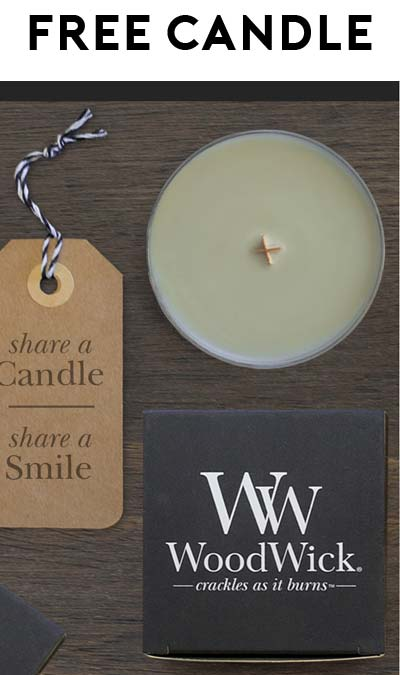 Back Again: FREE WoodWick Candles (Email Confirmation Required)