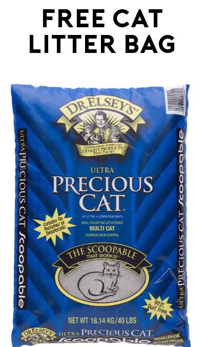 FREE 40 Pound Bag Of Dr. Elsey's Precious Cat Litter After Rebate