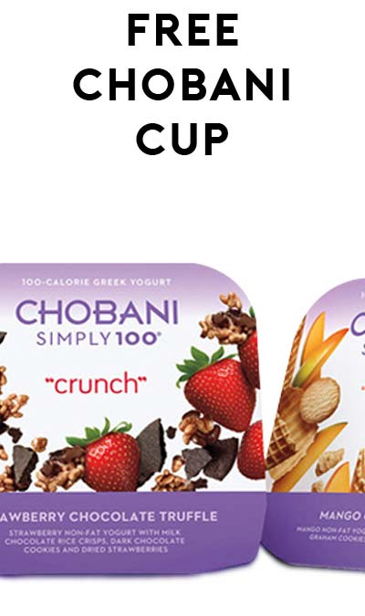 FREE Chobani Simply 100 Crunch 4.2oz or Cup 5.3oz at Safeway