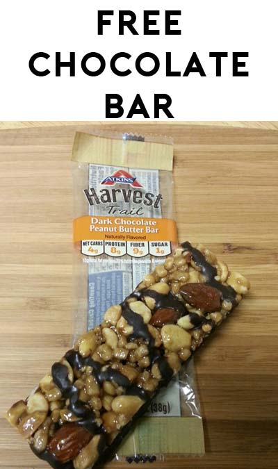 TODAY ONLY: FREE Atkins Harvest Trail Dark Chocolate Peanut Butter Bar At Farm Fresh, Hornbachers, Shop 'N Save, Shoppers & Cub Stores