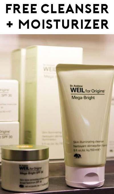 FREE Dr. Weil Mega-Bright Cleanser & Moisturizer Samples (Must Redeem In Store)