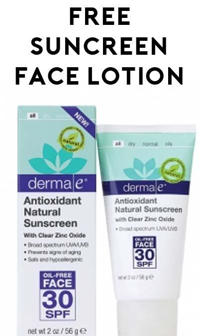 FREE derma|e Antioxidant Natural Sunscreen SPF 30 Oil-Free Face Lotion Sample