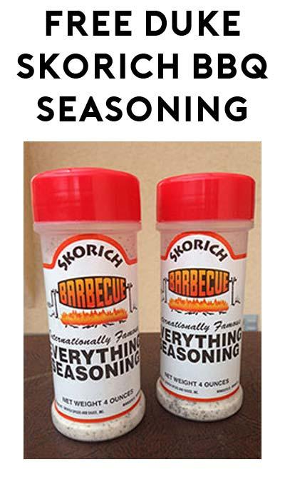 FREE Duke Skorich BBQ Seasoning
