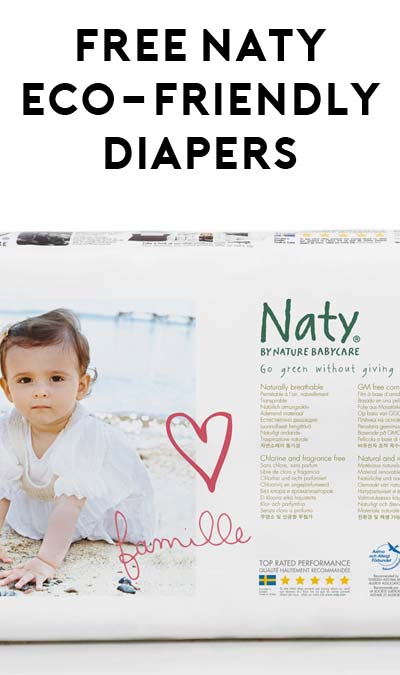 FREE Naty Eco-Friendly Diaper For Inviting 3 Friends