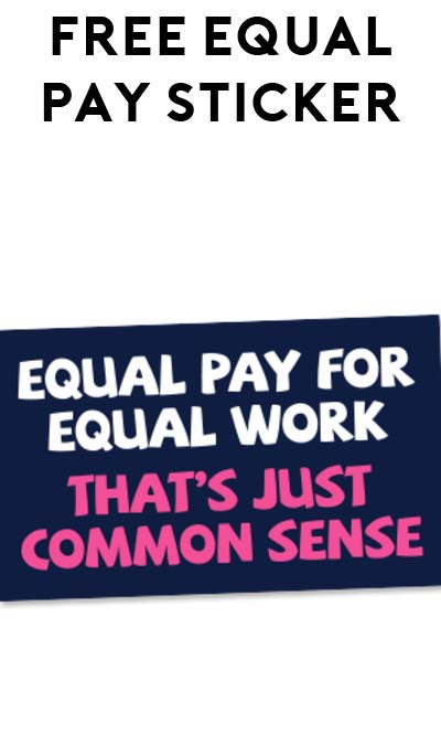 FREE Equal Pay Sticker From DCCC
