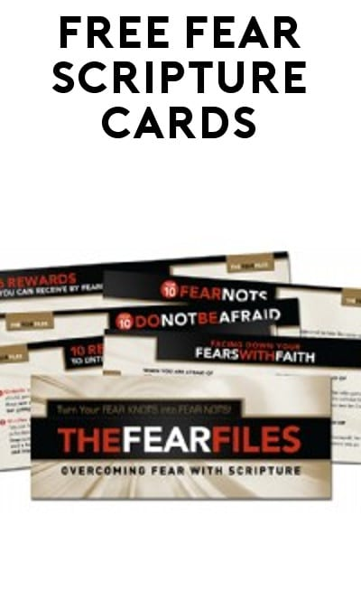 6 FREE Fear Scripture Cards From David Jeremiah
