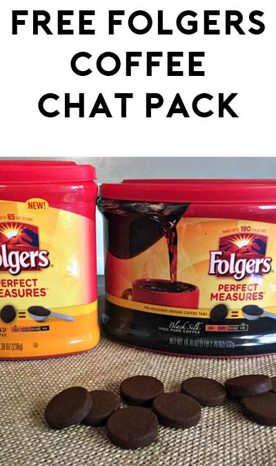 FREE Folgers Perfect Measures Coffee Chat Pack (Apply To Host Party)