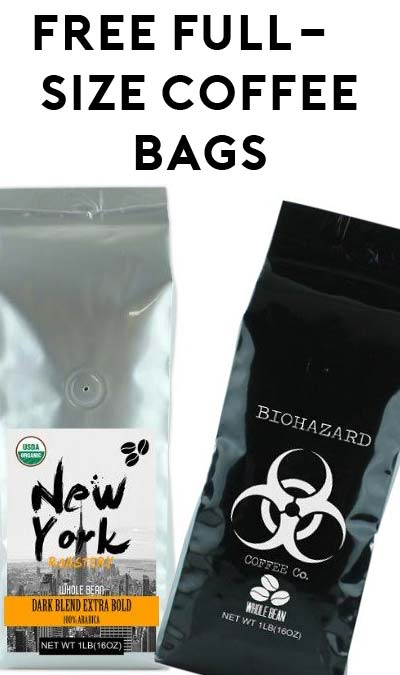2 FREE Full-Size Coffee Bags For Amazon Review