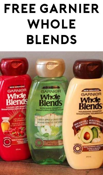STILL ACTIVE: FREE Garnier Whole Blends Shampoo & Conditioner Sample From Walmart