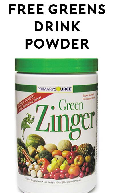 Phone Number Is Out Of Service: FREE Green Zinger Powdered Drink (Call Required)