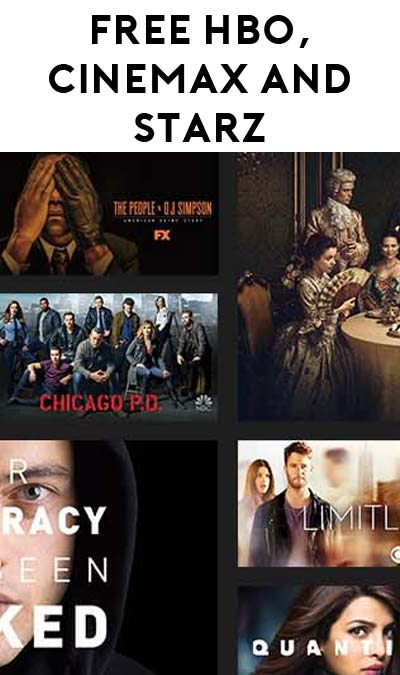 FREE HBO, Cinemax & STARZ For Comcast XFINITY Users April 18th Through April 24th