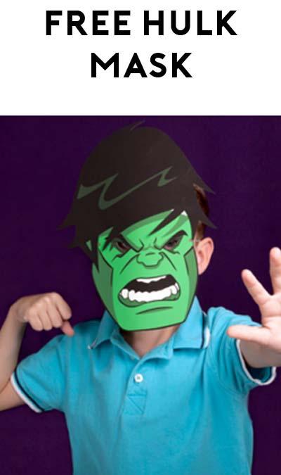FREE Printable Hulk Mask For Kids