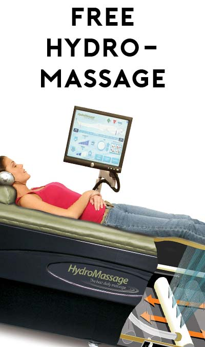 FREE HydroMassage Experiance April 15th Through April 22nd