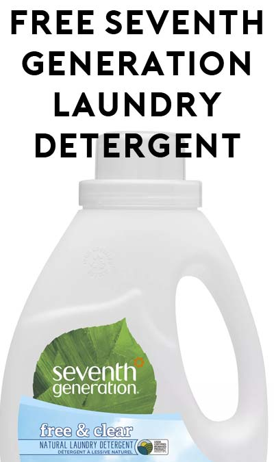 Possible FREE Seventh Generation Laundry Detergent or Other Seventh Generation Product