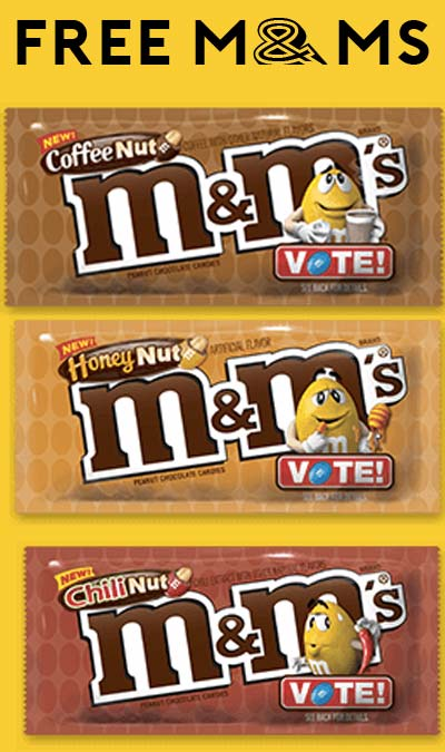 Last Day, Back At Noon EST > FREE M&M's Chili Nut, Coffee Nut or Honey Nut Chocolate Bags (Facebook Required)