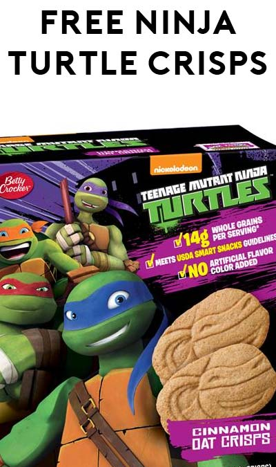 FREE Teenage Mutant Ninja Turtles Oat Crisps (Apply To Host Party)