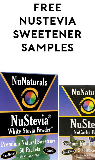 2 FREE NuStevia NoCarbs Blend & White Stevia Powder Packet [Verified Received By Mail]