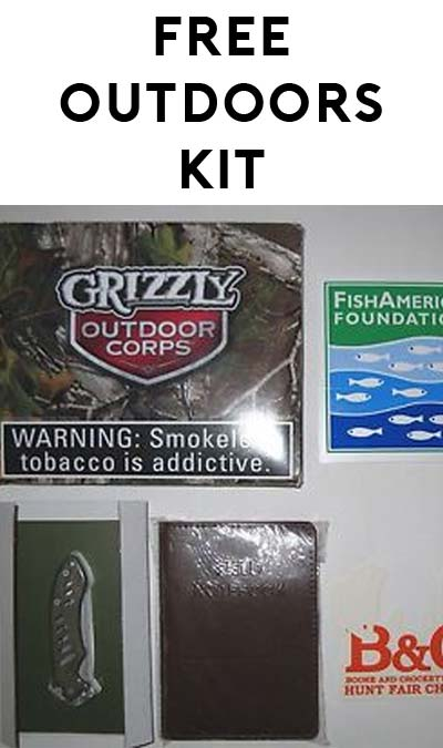 FREE Sticker, Notebook & Pocket Knife From Grizzly Outdoors Corps Kit