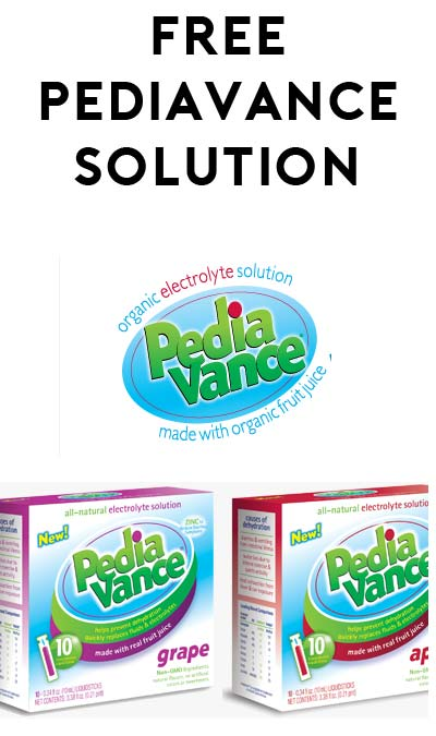 FREE PediaVance Grape Or Apple Flavored Electrolyte Solution (Email Confirmation Required)