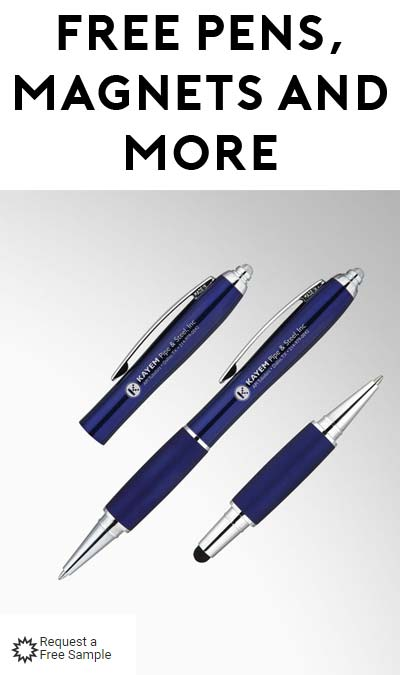 FREE Myron Royale Lighted Ballpoint Pen, LED Magnetic Pen Flashlight, Key Rings, Magnets, Pens, Sticky Notes, Notepads & More