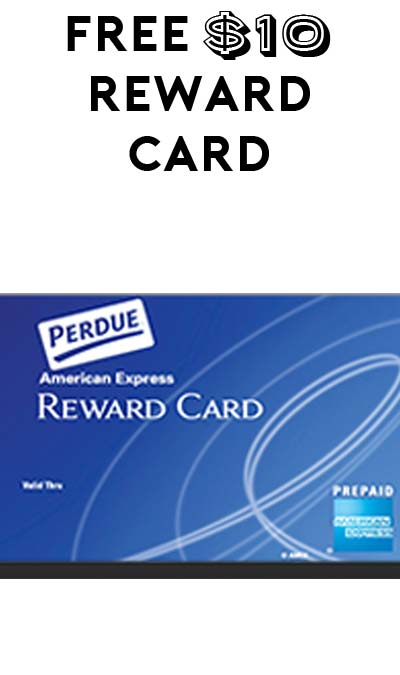 FREE $10 Amex Perdue Gift Card (Facebook Or Twitter Required)