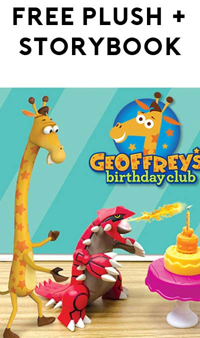 FREE Geoffrey Plush & Storybook At Toys R Us