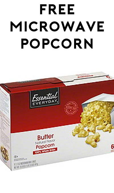 TODAY ONLY: FREE Essential Everyday Microwave Popcorn At Farm Fresh, Hornbachers, Shop 'N Save, Shoppers & Cub Stores