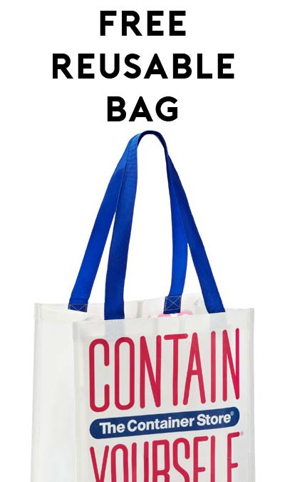 FREE Reusable Container Store Bag For Donating Used Items