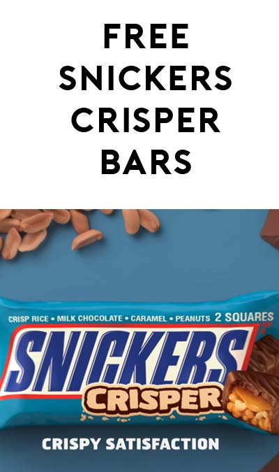 3 FREE Snickers Crispers Bar At Walgreens (Rewards Card Required)