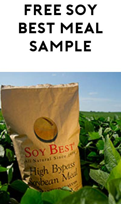 FREE Soy Best Meal Sample